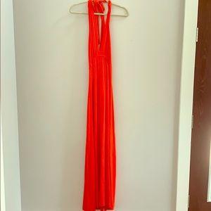 Rachel Pally Red Halter Dress